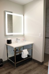 Full Bathroom with Vanity and LED Mirror